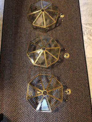 BRASS LIGHT FIXTURES (3) for Sale in Arlington, VA