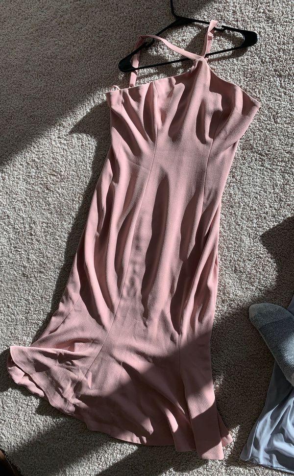 Pink Formal Halter Dress