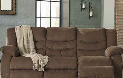 Sofa Loveseat 💥] Tulen Chocolate Reclining Living Room Set by Ashley 🗨️New for Sale in Greenbelt,  MD