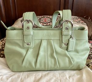 Coach purse. Mint green color, 9HX16W size for Sale in National City, CA