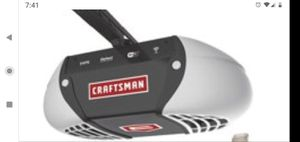garage opener Motor Craftsman ½ HP Chain Drive Garage Door Opener with 3 Multi-Function Remote $100 pick for Sale in San Antonio, TX