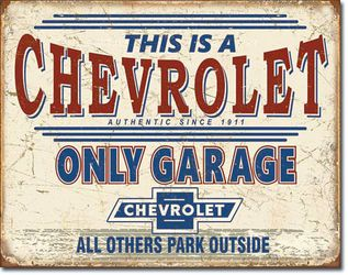 Chevrolet Only Garage Metal Sign - New And Bagged for Sale in Gresham,  OR