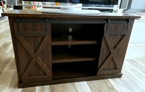 "NEW Espresso Barn Door Media TV Stand: Up to 60"" TV for Sale in Burlington, NJ"