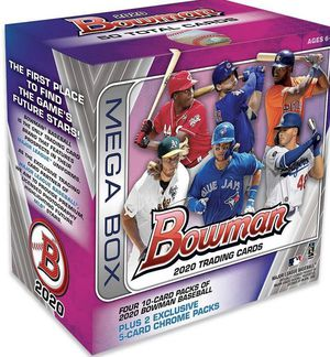 2020 Topps MLB Bowman Baseball Trading Card Mega Box for Sale in Brooklyn, NY