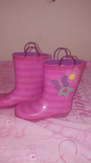 Pink rain boots for Sale in Fresno, CA