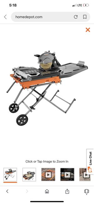 """Ridged 10"""" tile saw for Sale in Richmond, CA"""