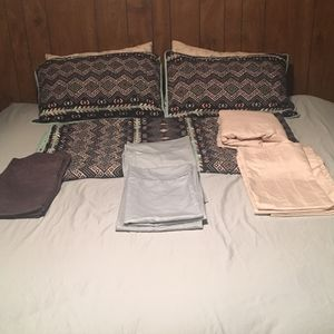 King sized mattress + 3 sheet sets for Sale in Wichita, KS