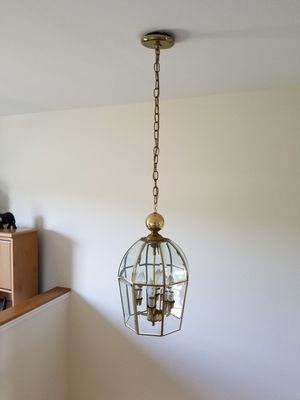 Beveled glass light fixture for Sale in Wading River, NY
