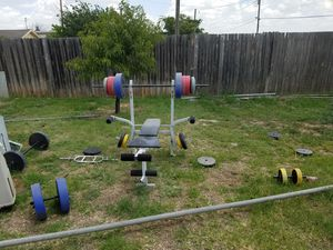 Weights and bench for Sale in Odessa, TX