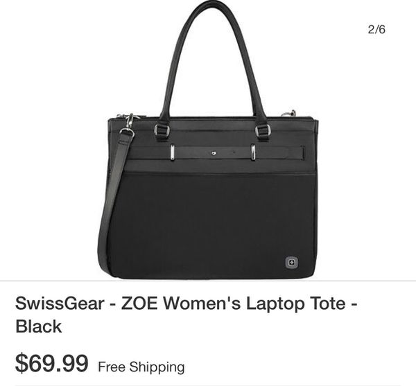 "Women's SwissGear tote paid $72 Women's 16"" Laptop Tote - Black Safeguard your laptop with this Swiss Gear ZOE tote that features an expandable main"