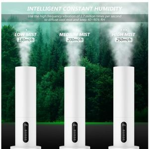 5.5L\6L Water Tank Quiet Ultrasonic Cool Mist Humidifier w/ Timer Remote Control for Sale in Rosemead, CA