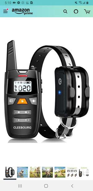 Dog Shock Collar, Remote Dog Training Collar with 3 Correction Remote Training Modes, Vibration, Shock, Beep, Adjustable Collar Strap for Sale in Tustin, CA