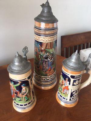 German Antique Beer Steins for Sale in Los Angeles, CA