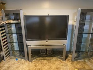 Entertainment center 2 piers and a tv stand for Sale in Denver, CO