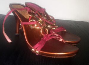 Womens Suede Pink/Gold Heels Sz 10 $15 for Sale in Fort Myers, FL