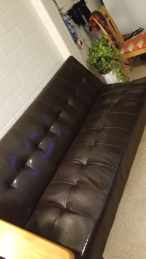 Leather coach and bed for Sale in Austin, TX
