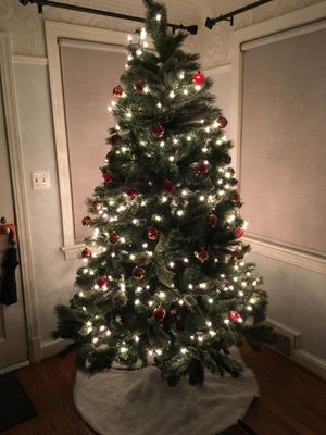 8-ft Artificial Christmas Tree plus Decorations for Sale in Arlington, VA