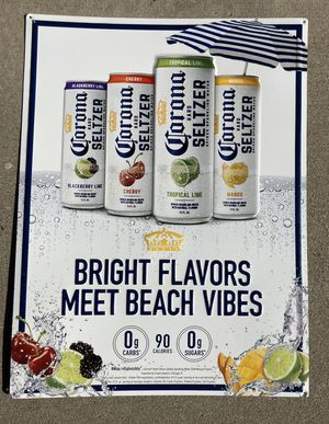 New Corona Seltzer Beach Vibes Metal Beer Bar tin Sign for Sale in Chino Hills, CA
