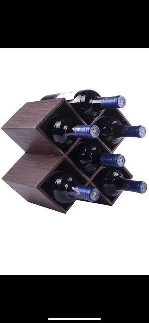 6 bottle leatherette wine rack for Sale in Pembroke Pines, FL