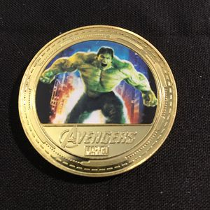 Avengers Hulk Stan Lee Marvel Collectors Coin Token 40mm for Sale in Cranston, RI