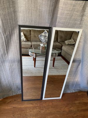 """Black/white mirror 49.5"""" x 13.5"""". Can deliver San Diego county $5-$10 for Sale in San Diego, CA"""