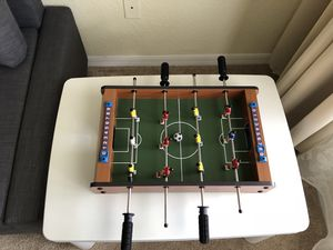 Tabletop Foosball Table- Portable Mini Table Football / Soccer Game Set with Two Balls and Score Keeper for Adults and Kids by Hey! Play! for Sale in Orlando, FL
