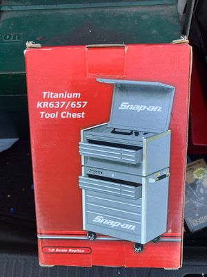 Snap on titanium tool Chest 1-8 scale, new in the box for Sale in San Diego, CA