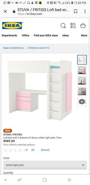 IKEA loft bed with mattress for Sale in Philadelphia, PA