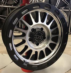 "NEW! SET OF FIVE 18"" Black Rhino Taupo Matte Black Silver Rims Wheel 5x5 Jeep Wrangler 18x9 XD Fuel for Sale in Tampa, FL"