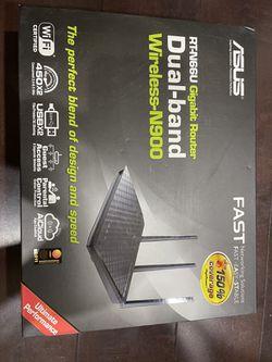ASUS N900 Gigabit RT-N66U Router And NetGear AC1200 WiFi Range Extender EX6200 for Sale in Kirkland,  WA