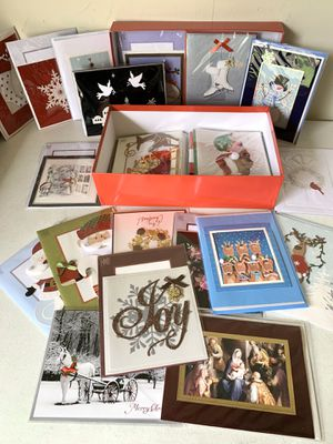 30 Hand Crafted Christmas Cards with Matching Self-Seal Envelopes for Sale in Flower Mound, TX