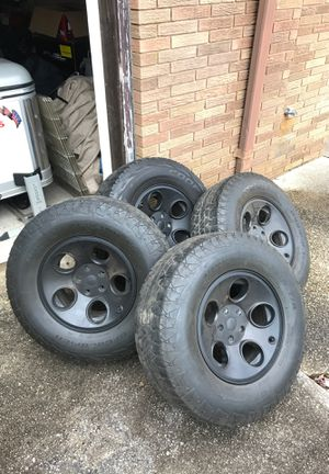 JEEP WRANGLER 5x5 set of 4 AEV Black Alloy wheels for Sale in Egg Harbor City, NJ