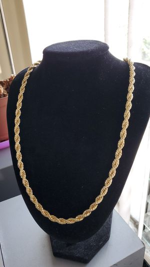 24 inch 14k Gold plated Rope Chain for Sale in Los Angeles, CA