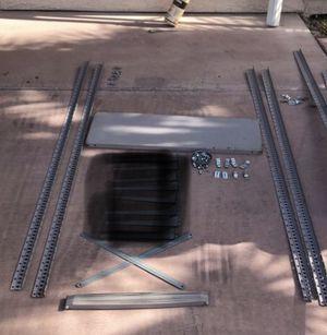 Expensive Metal shelving system, shelves, back & side braces, clips, screws & nuts. Upright support rails you get separately. for Sale in Las Vegas, NV