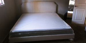 King 4 pieces bedroom set mattress is brand new for Sale in Roosevelt, CA