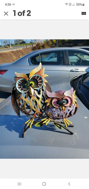 Colorful Owl Statue Metal for Sale in Silver Spring, MD
