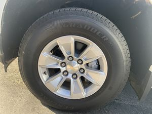 OBO$$ 2019 stock chevy rims and tires 4500 miles on them for Sale in Santa Ana, CA