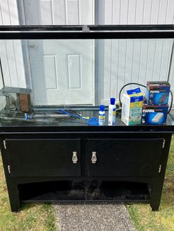 65 Gallon Fish Tank With Stand And More for Sale in Tacoma,  WA