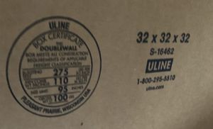 Uline Double walled cardboard storage or shipping boxes for Sale in Placentia, CA