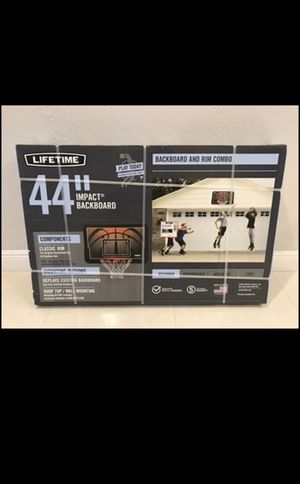 Lifetime 44 inch Impact Backboard and Rim Basketball Hoop Combo Brand New for Sale in Chicago, IL