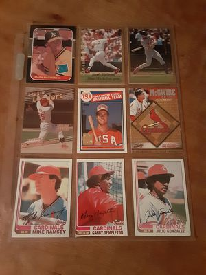 Cardinals Baseball Cards for Sale in Peoria, IL