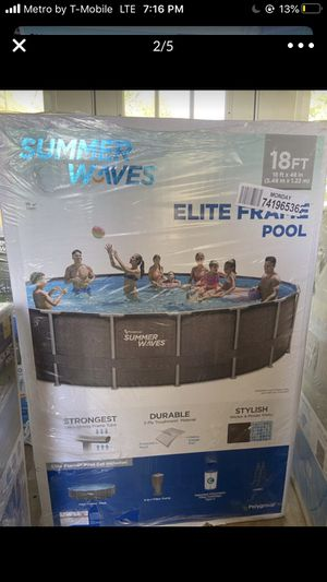 "Summer Waves Elite Frame Pool 18' x 48"" for Sale in Chesterfield, NJ"