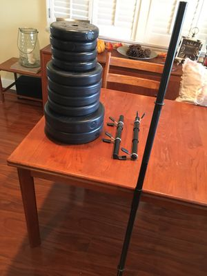 Weights and dumbbells/barbell set for Sale in Santa Ana, CA