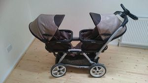 Double Stroller Peg Perego Duette SW Pram + 2 Car seats + 2 bases for Sale in Jersey City, NJ