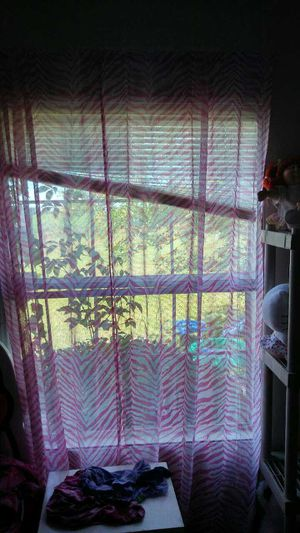 Leopard pink curtains for Sale in Ailey, GA