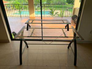 Glass desk for Sale in Hialeah, FL
