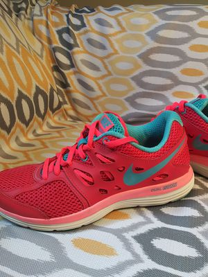 Womens new hot pink and baby blue Nikes size 6 .5 us Womens for Sale in Manheim, PA