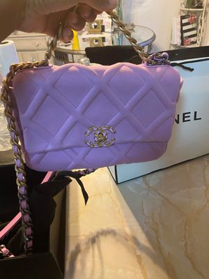 💜Breathtakingly Gorgeous Lilac Chanel Bag😳 with Elegant Gold✨ And Silver Hardware!💜 for Sale in Las Vegas, NV