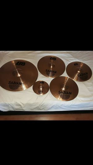B8 Sabian whole set of cymbals great condition for Sale in Los Angeles, CA