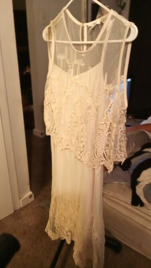 Beautiful beige White dress brand name is cato for Sale in San Antonio, TX